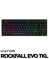 Hator Rockfall EVO TKL gaming keyboard