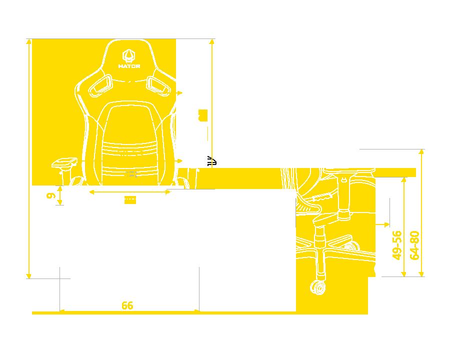 Hator Arc размеры кресла
