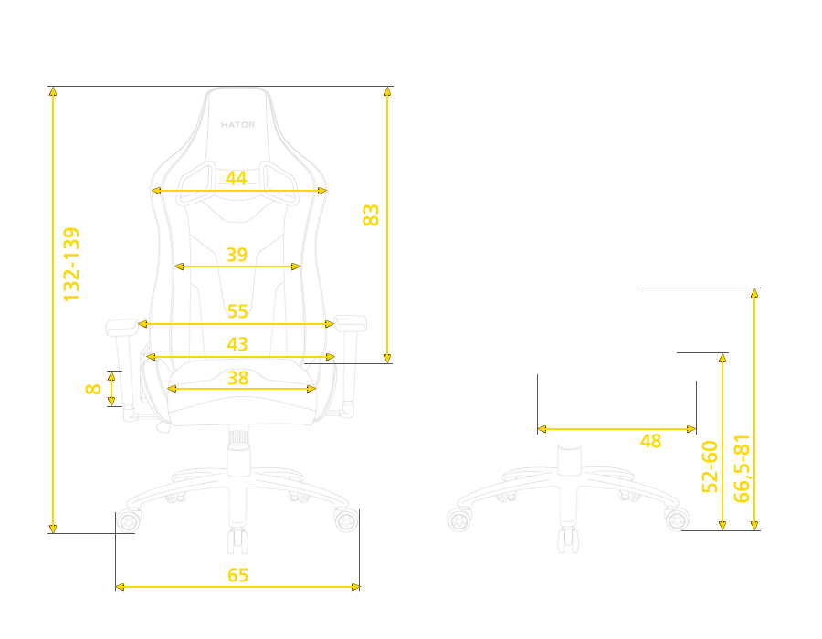 Hator chair size