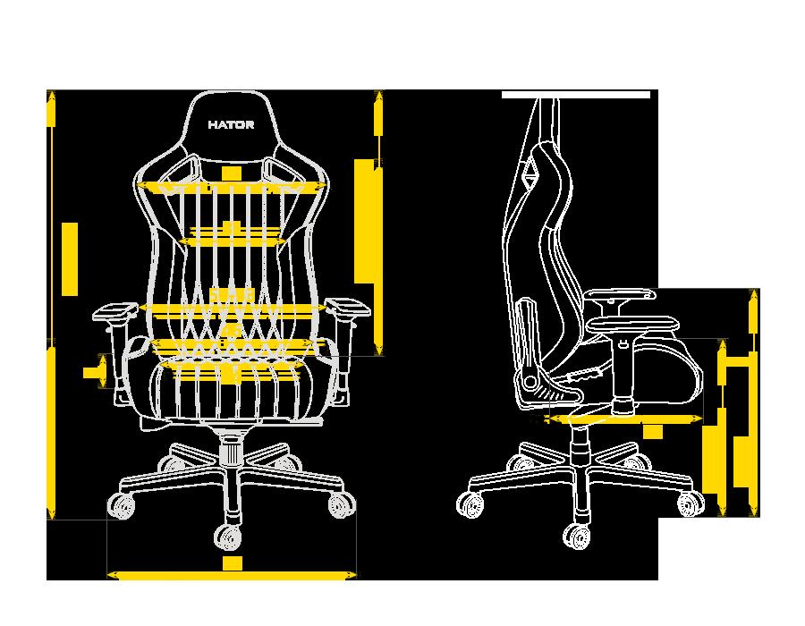Размер кресла Hator Arc S