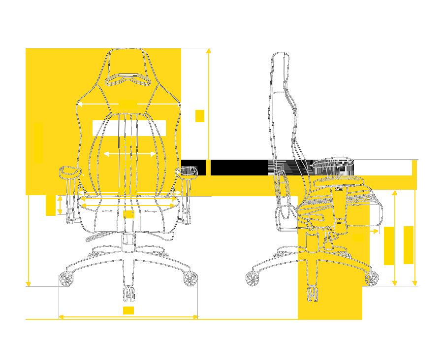 Розмір крісла Hator