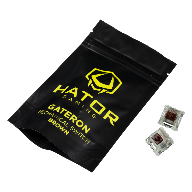 Hator Set of Mechanical Hotswap Switches Gateron brown
