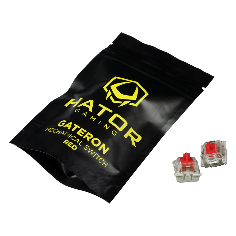 Hator Set of Mechanical Hotswap Switches Gateron red